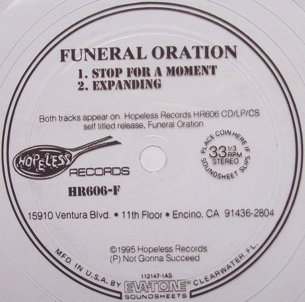 Funeral Oration - Stop For A Moment / Expanding