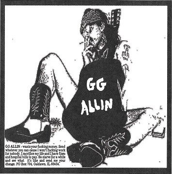 Gg Allin - Acoustic Session Boston, MA May 1989