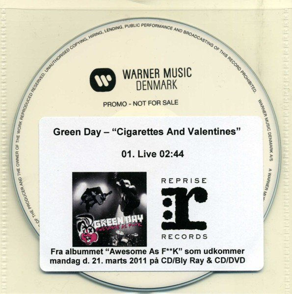 Green Day - Cigarettes And Valentines
