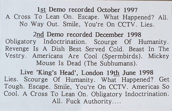 In The Shit - Demos & Live C. 1997-1998
