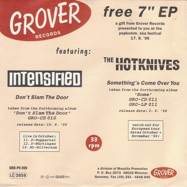 Intensified - Grover Records Free 7