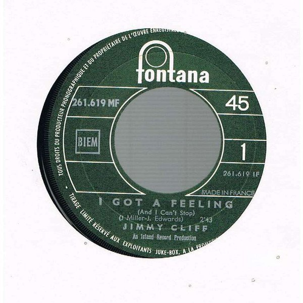 Jimmy Cliff - I Got A Feeling / Call On Me
