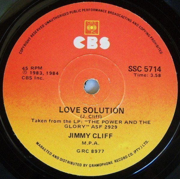 Jimmy Cliff - Love Solution / We All Are One
