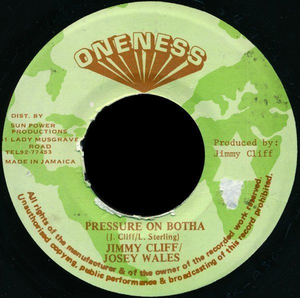 Jimmy Cliff - Pressure On Botha