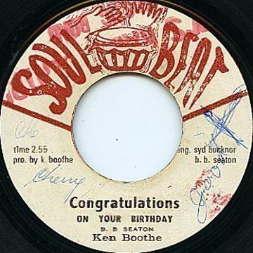 Ken Boothe - Congratulations On Your Birthday