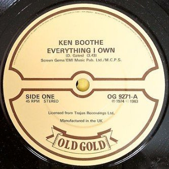 Ken Boothe - Everything I Own / Help Me Though The Night