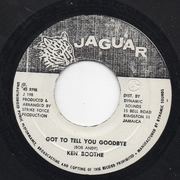 Ken Boothe - Got To Tell You Goodbye
