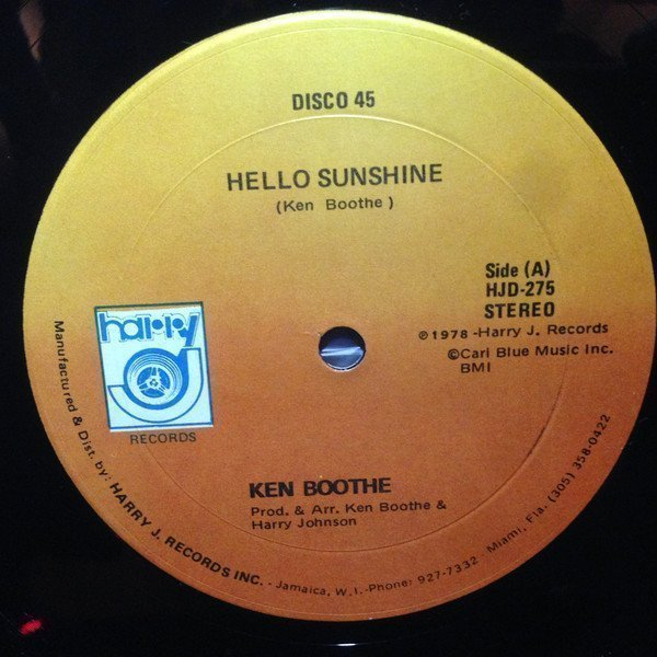 Ken Boothe - Hello Sunshine / Good Woman (By Your Side)