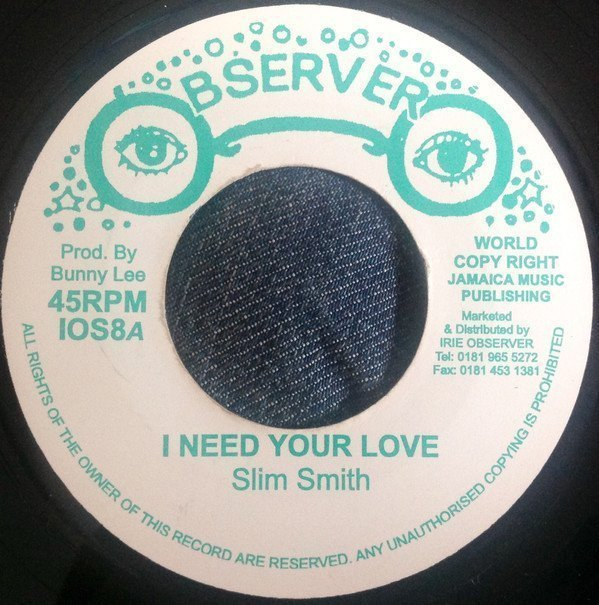 Ken Boothe - I Need Your Love / Silver Words