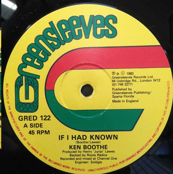 Ken Boothe - If I Had Known