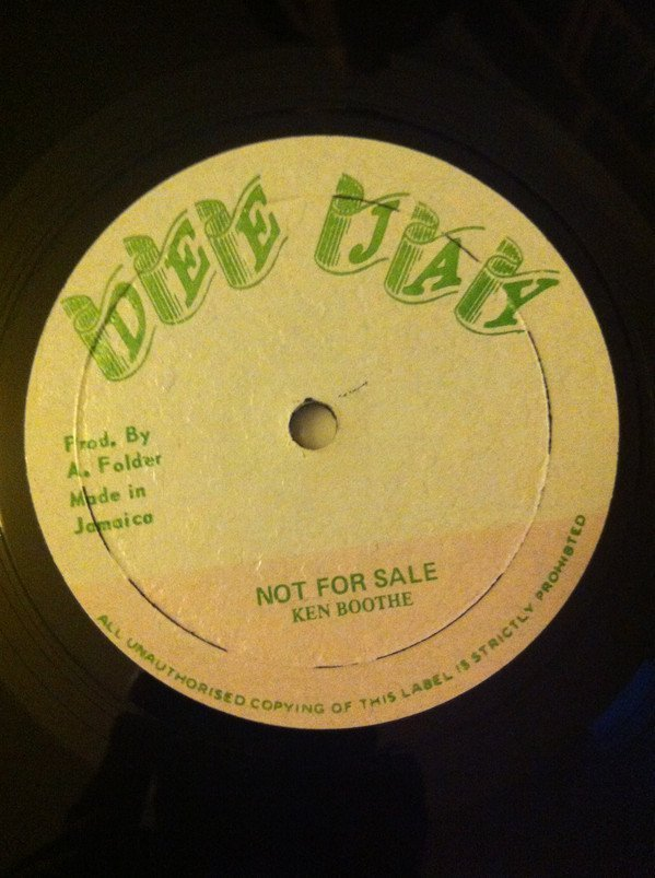 Ken Boothe - Not For Sale / Ain