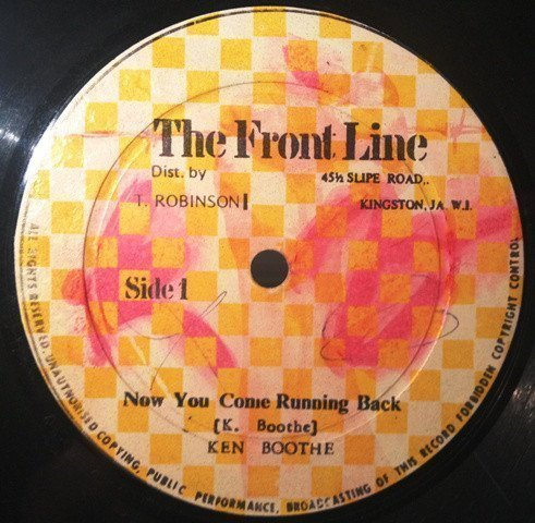 Ken Boothe - Now You Come Running Back / A Love We A Deal With