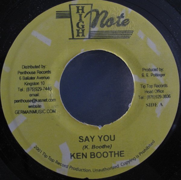 Ken Boothe - Say You / Let The Power Fall On I