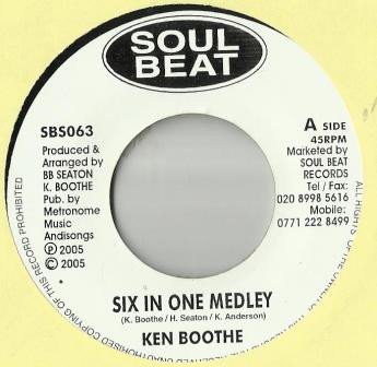 Ken Boothe - Six In One Medley / Thinking