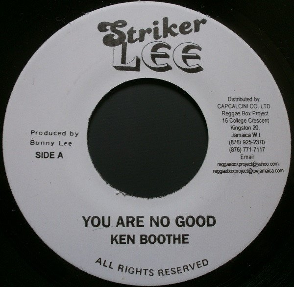 Ken Boothe - You Are No Good / Not For Sale