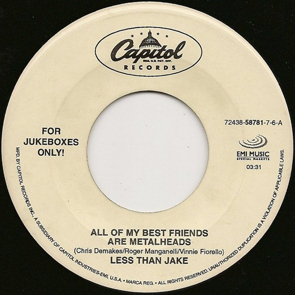 Less Than Jake - All Of My Best Friends Are Metalheads / Five State Drive