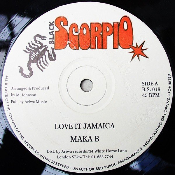 Macka B - Love It Jamaica / Your Love Is Burning