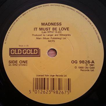Madness - It Must Be Love / My Girl