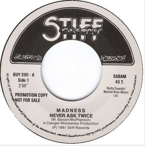 Madness - Never Ask Twice