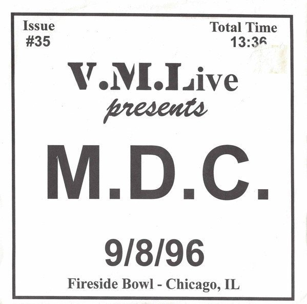 Mdc - 9/8/96 (Fireside Bowl - Chicago, IL)