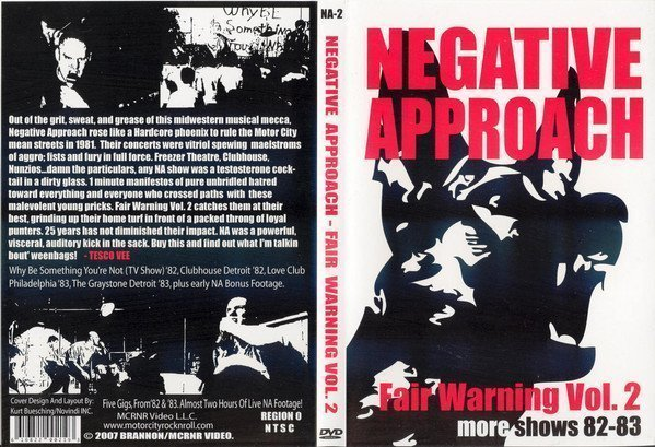 Negative Approach - Fair Warning Vol 2 More Shows 82-83