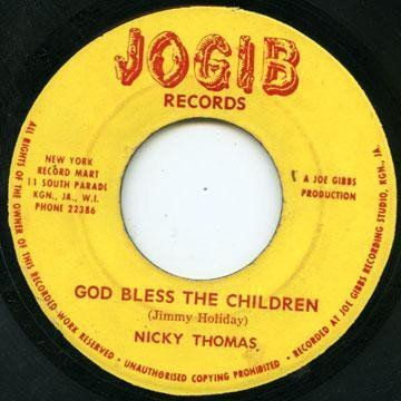 Nicky Thomas - God Bless The Children / Round The Clock