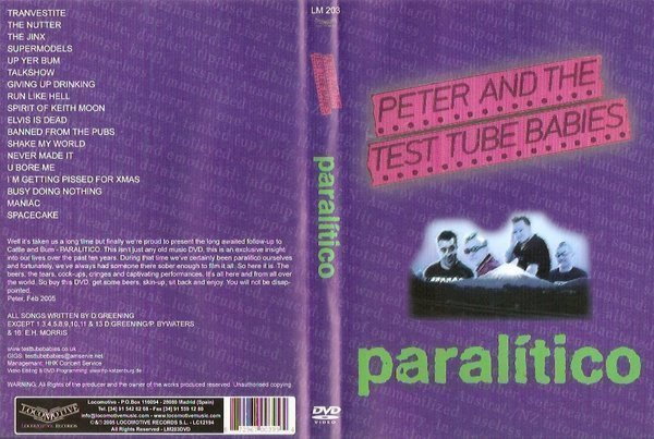 Peter And The Test Tube Babies  that Shallot - Paralítico