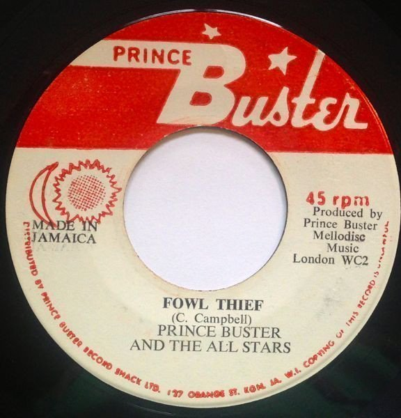 Prince Buster - Fowl Thief / Rough And Tough