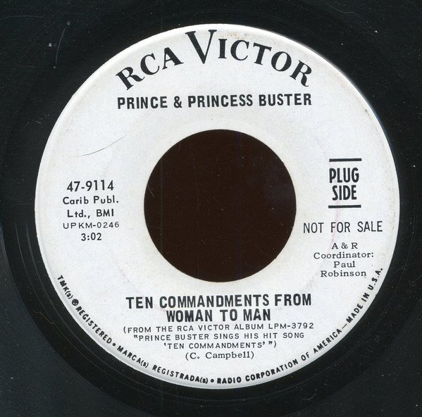 Prince Buster - Ten Commandments (From Woman To Man) / Ain