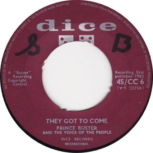 Prince Buster - They Got To Come / These Are The Times