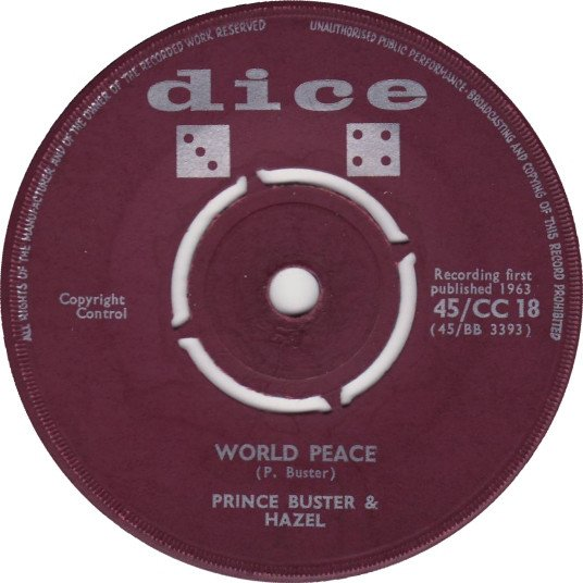 Prince Buster - World Peace / The Lion Roars