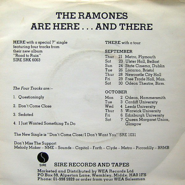 Ramones - Are Here...And There