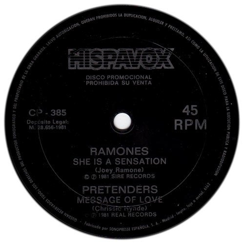 Ramones - She Is A Sensation / Message Of Love