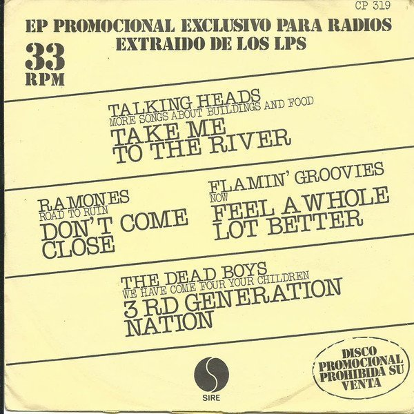 Ramones - Take Me To The River / Don