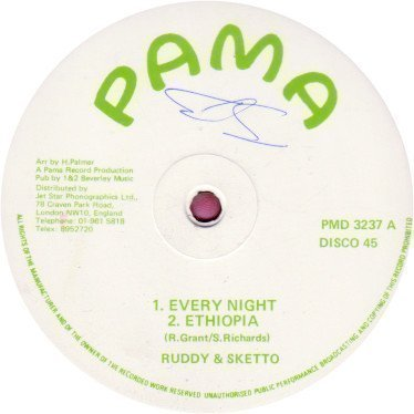 Ruddy And Sketto Baron Twist And His Knights - Every Night / Ethiopia / Don