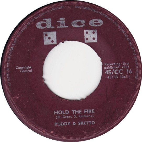 Ruddy And Sketto Baron Twist And His Knights - Hold The Fire / Good Morning Mr. Jones