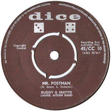 Ruddy And Sketto Baron Twist And His Knights - Mr. Postman / Christmas Blues