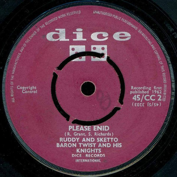 Ruddy And Sketto Baron Twist And His Knights - Please Enid / A B C Boogie
