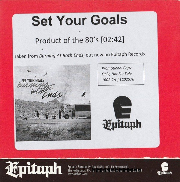 Set Your Goals - Product Of The 80