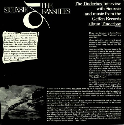 Siouxsie  The Banshees - The Tinderbox Interview With Siouxsie