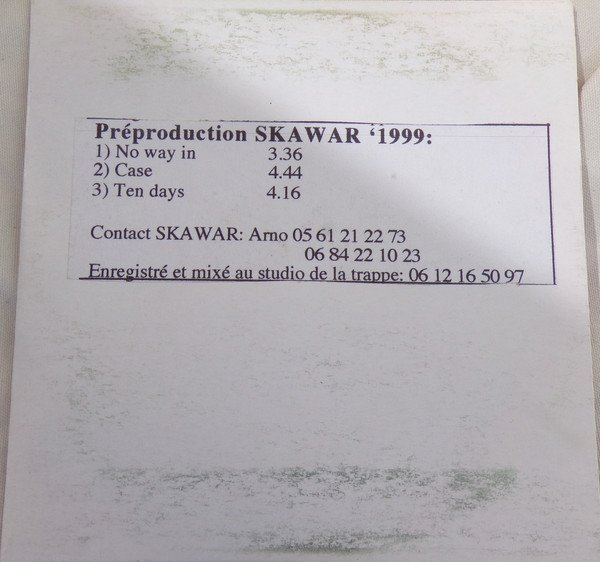 Ska War - Préproduction SkaWar