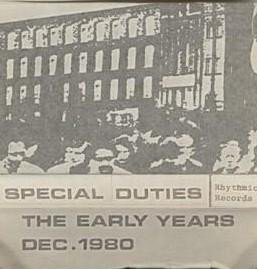 Special Duties - The Early Years