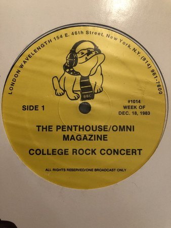 Squeeze - The Penthouse Magazine College Rock Concert