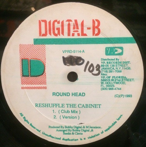 Sugar Minott - Reshuffle The Cabinet / Never Gonna Give Jah Up
