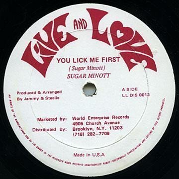 Sugar Minott - You Lick Me First / Insect Kitchen