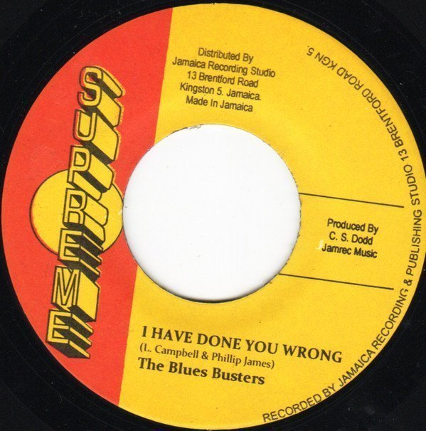 The Blues Busters - I Have Done You Wrong / Down The Road