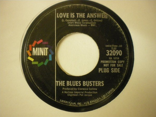 The Blues Busters - Love Is The Answer / Speak Your Mind