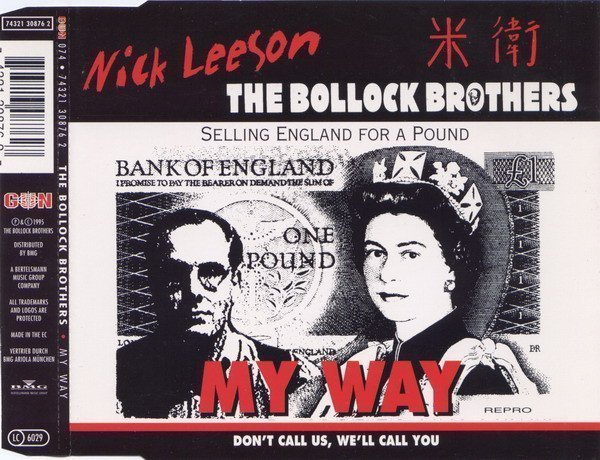 The Bollock Brothers - My Way - Selling England For A Pound