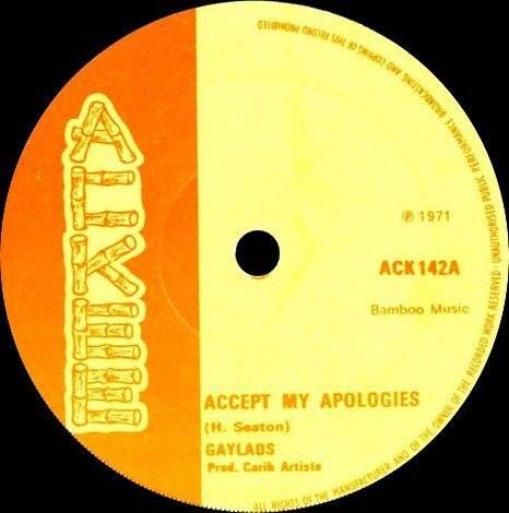 The Gaylads - Accept My Apologies