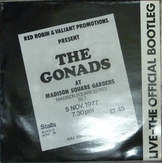 The Gonads - Live-The Official Bootleg